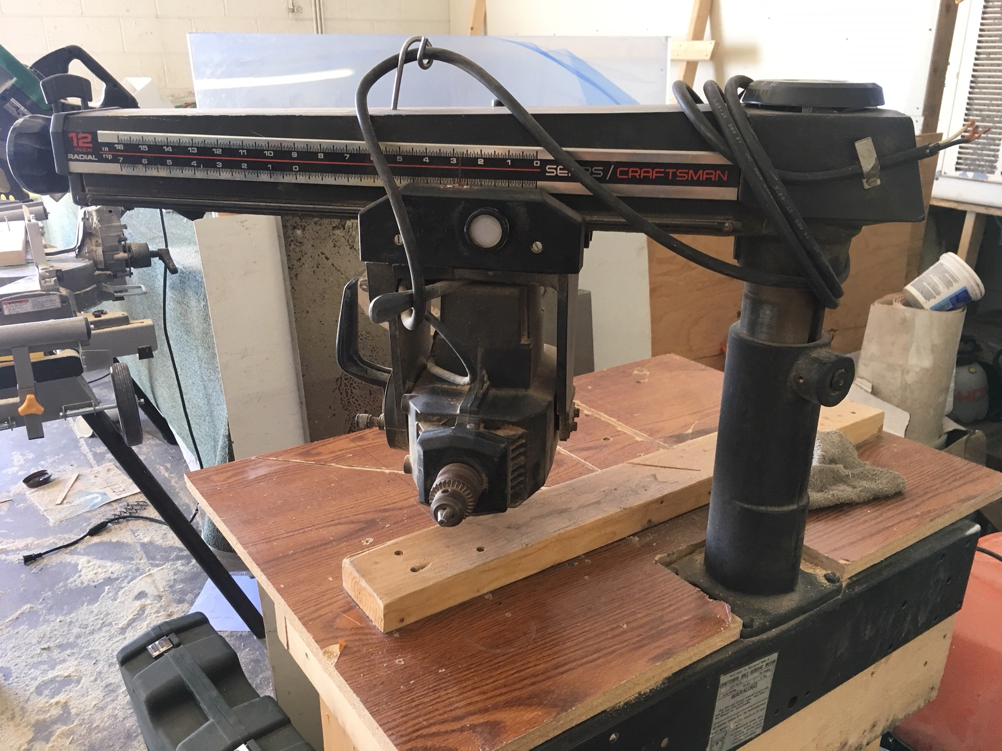 Craftsman Radial Arm Saw Reset Button Location