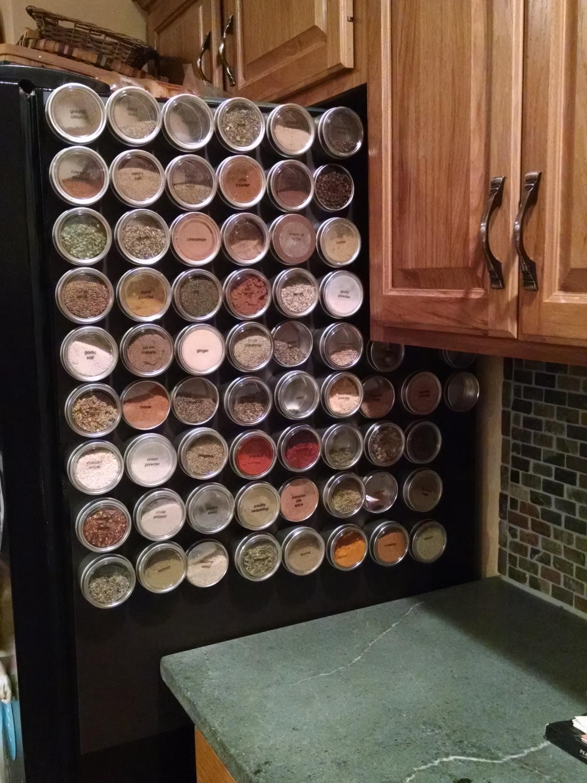 custom magnetic spice rack