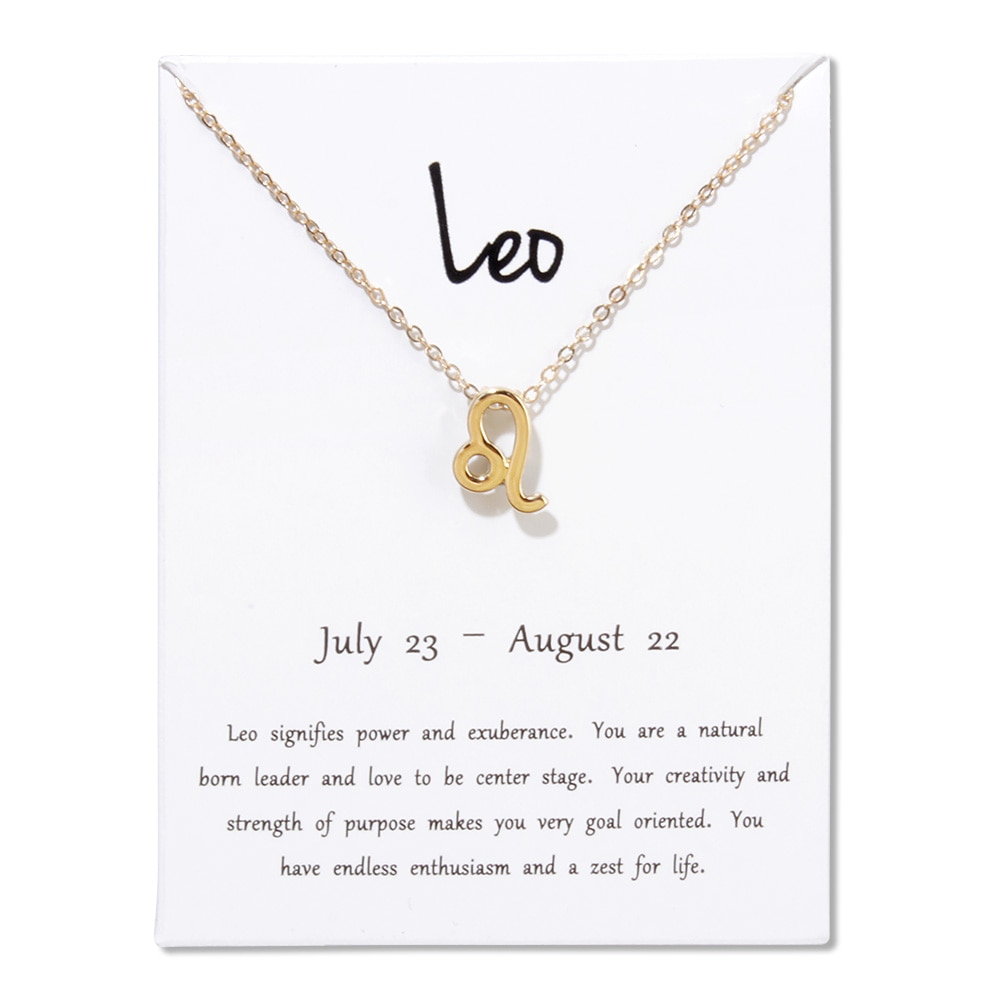 lucky zodiac sign necklace