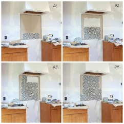Cement Tile Kitchen How Much Is An Ikea A Backsplash In The Grit And Polish Progress Collage With Numbers