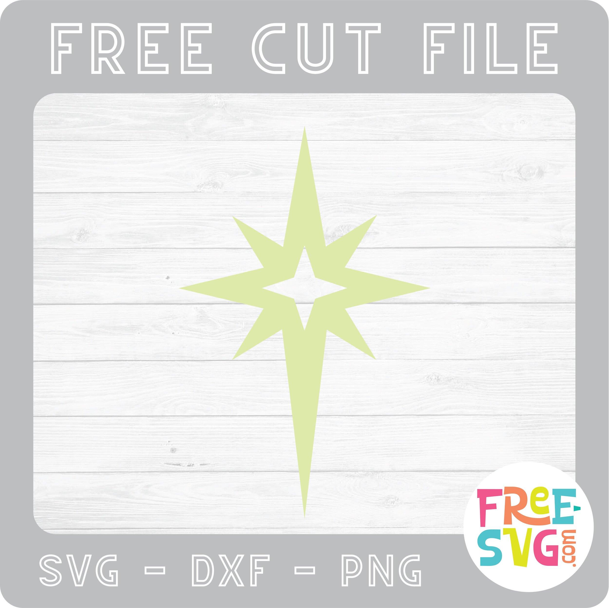 Christmas star svg cut file. Christmas Star Free Svg Com