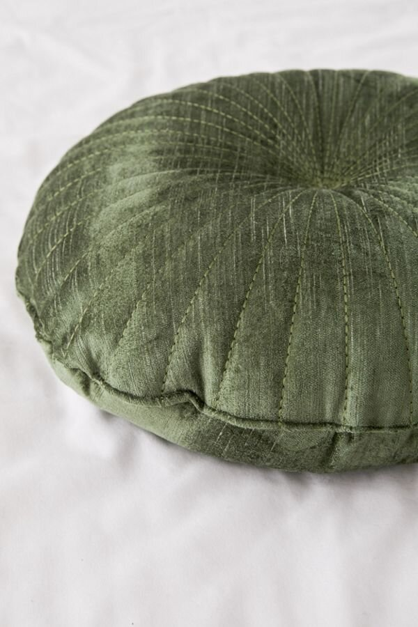 round green velvet throw pillow urban creative