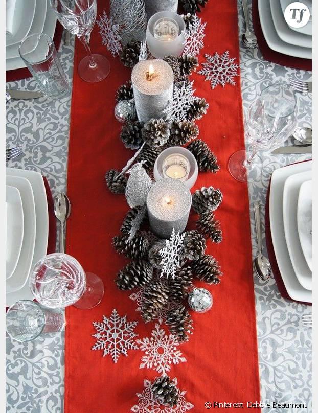 awesome perfect assez jolies ides dco de nol pour la table et la maison fa with decorations de mariage avec pommes de pin with dcoration de table nol