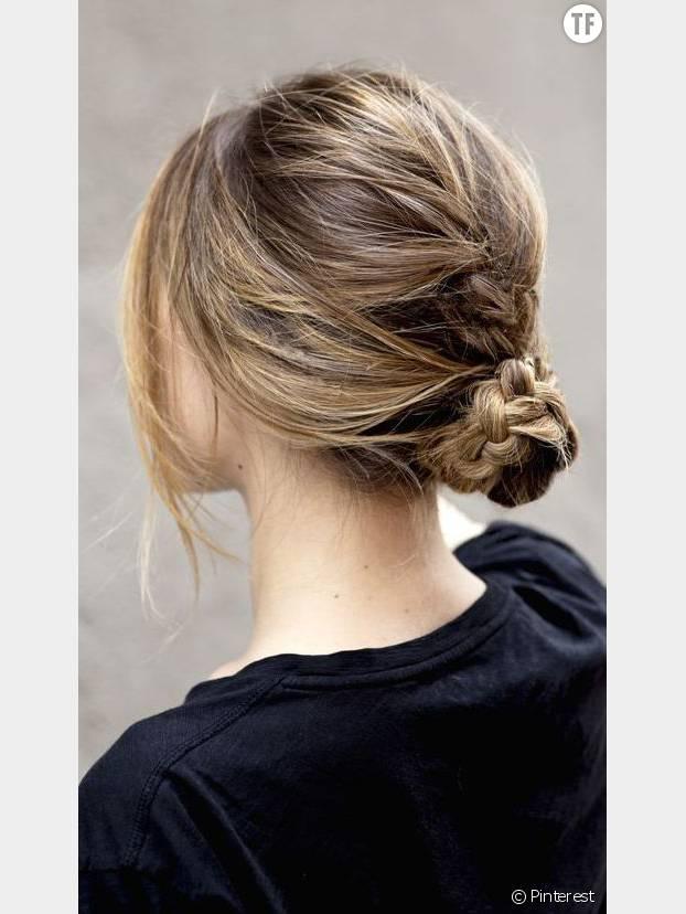 Tendance coiffure : le chignon tressé