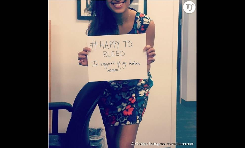 La chanteuse indienne Shivali Bhammer soutient la campagne #HappyToBleed