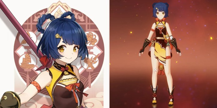 Xiangling art card and in game menu image.