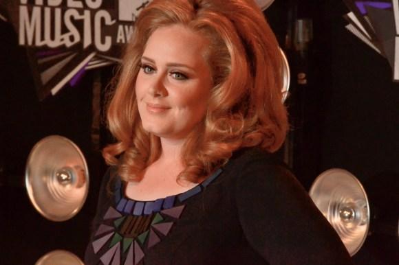 08/28/2011 - Adele - 2011 MTV Video Music Awards - Arrivals - Nokia Theatre L.A. Live - Los Angeles, CA, USA - Keywords: VMA Orientation: Landscape Face Count: 1 - False - Photo Credit: Steve Solis / PR Photos - Contact (1-866-551-7827) - Landscape Face Count: 1
