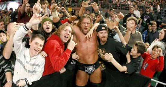 Image result for wrestling fans cheering