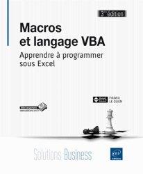 Macros et langage VBA: Frédéric LE GUEN: 9782746093355 Eni