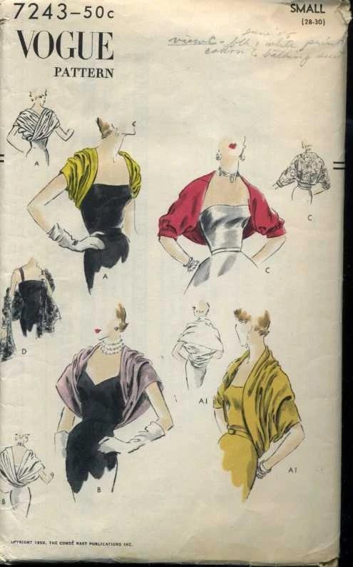 Rose Sleeve Vintage Pattern