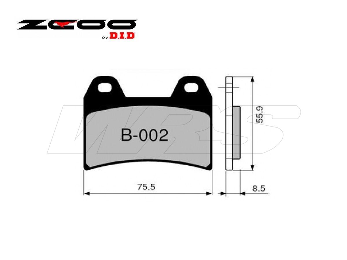 B002EX FRONT SET ZCOO BRAKE PAD B002EX DUCATI 848 2008-2010