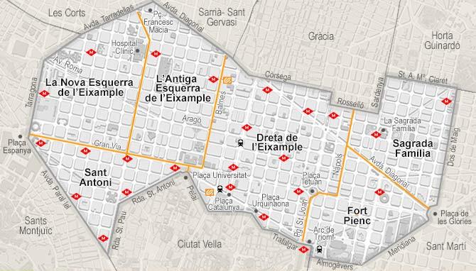Eixample's map