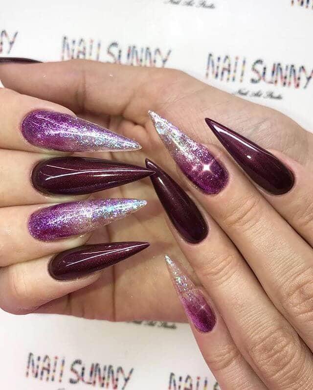 Burgundy Ombre Nails : burgundy, ombre, nails, Sultry, Burgundy, Ideas, Bring, Inner