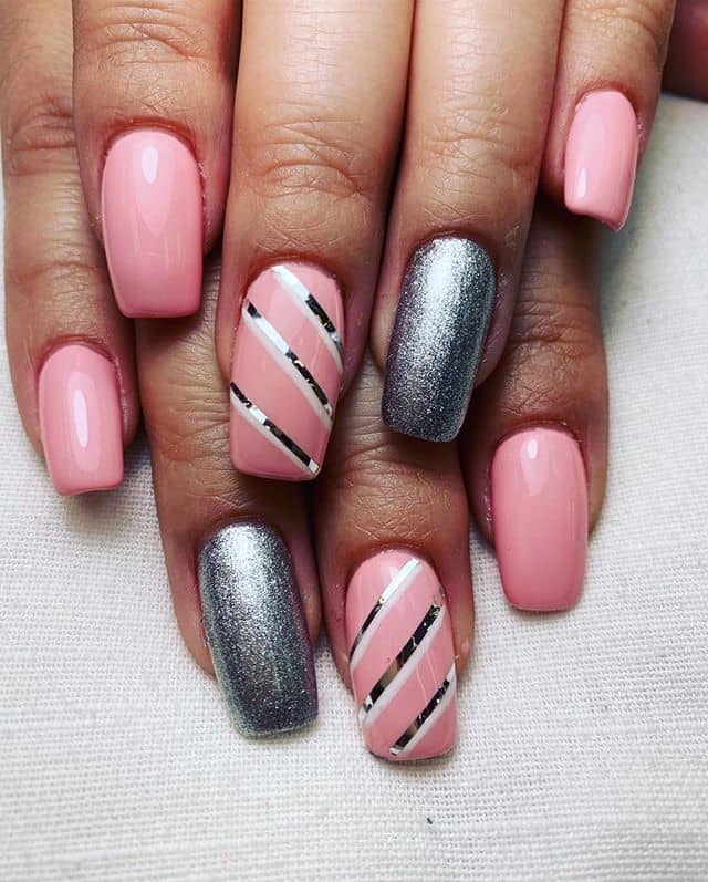 900+ Pink glitter nails ideas in 2021   nails, cute