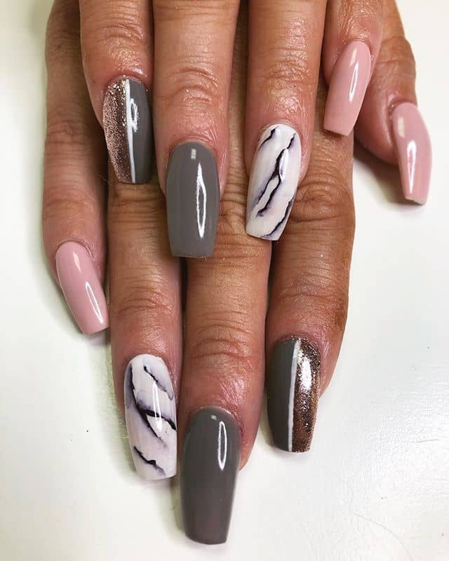 Silver And Pink Nails : silver, nails, Awesome, Silver, Ideas, Occasion