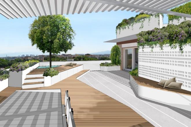 Una terrazzo con vista