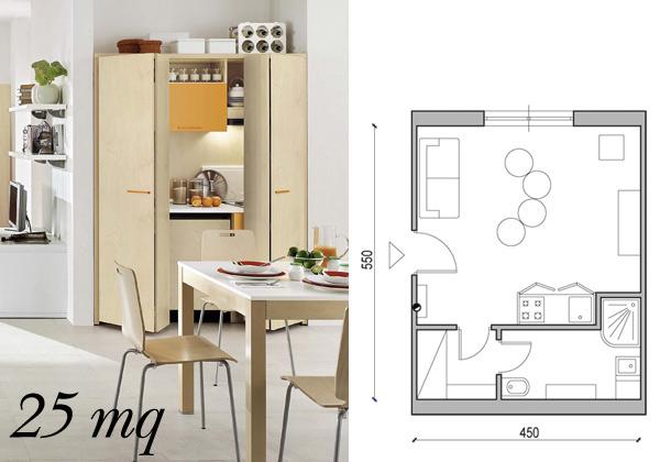 Come arredare un open space di 20 30 mq mondodesign it appartamento minimalista interior design per. Arredare Una Casa Piccola Da 25 Mq A 60 Mq Living Corriere