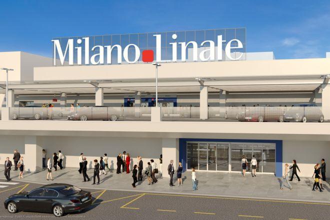 Il restyling della facciata dellaeroporto di Milano Linate