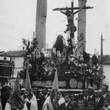 La Hiniesta pasa por la Alameda en la década de los 30