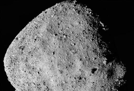 Superficie del asteroide Bennu captada por la misión Osiris-Rex