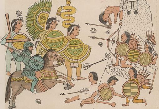 Españoles e indígenas unidos contra otros pueblos en Jalisco