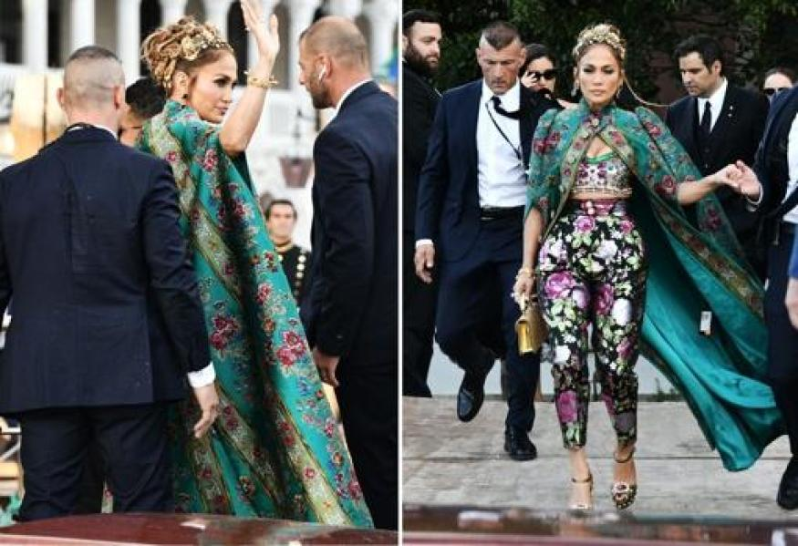 Jennifer Lopez fue la estrella del desfile