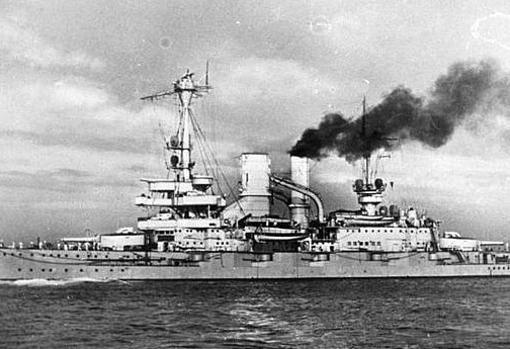 Acorazado SMS Schleswig-Holstein, encargado de asediar Westerplatte
