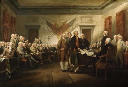 Firma de la Declaración de Independencia de los EEUU