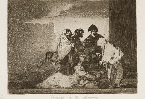 «Gracias a la almorta», de Goya