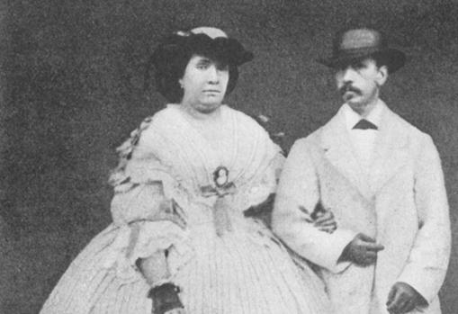 Isabel II y su marido, Francisco de Asís de Borbón.