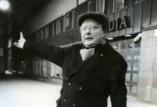 Stig Engström, conocido como «el hombre de Skandia», en abril de 1986