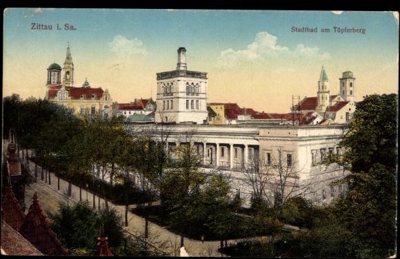 Ansichtskarte / Postkarte Zittau Sachsen, Stadtbad am