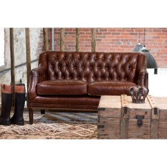 Brown Leather Sofa Uk Convertible Beds With Storage Vintage