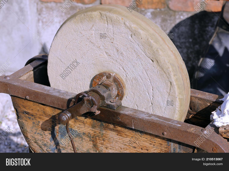 Old Stone Grinding Wheel