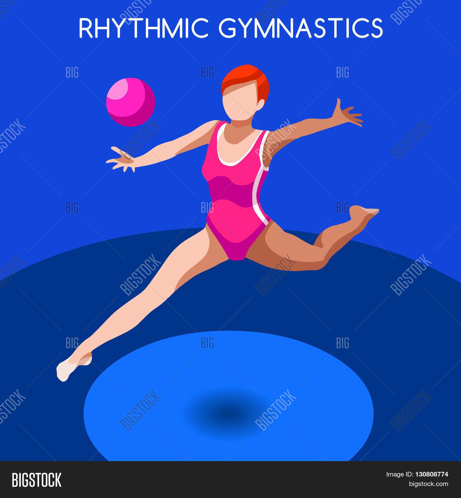 rhythmic gymnastics vector photo