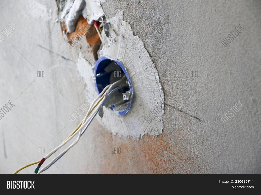 medium resolution of wall socket installation work on installing electrical outlets electrician prepares wiring fitting outlets