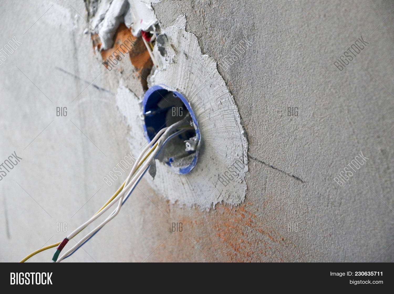 hight resolution of wall socket installation work on installing electrical outlets electrician prepares wiring fitting outlets