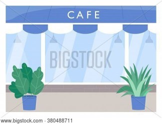 Cafe Exterior Flat Vector & Photo Free Trial Bigstock