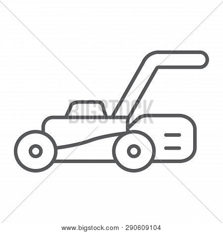 lawn mover thin line
