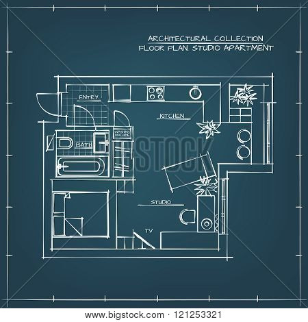 Blueprint Studio Vector Photo Free