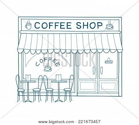 Coffee Shop Front Vector & Photo (Free Trial) | Bigstock