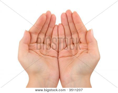 cupping hands images illustrations
