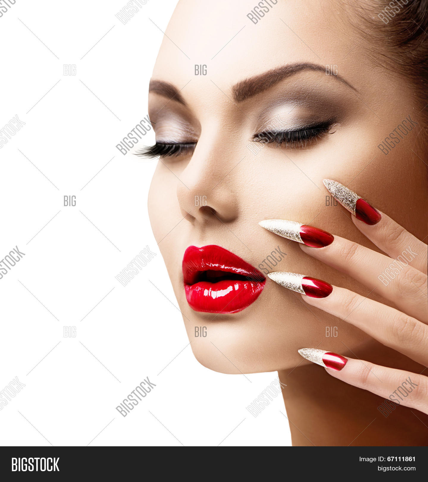 Fashion Beauty Model Girl Manicure Image Photo Bigstock