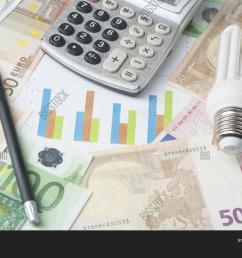 energy saving lamp chart and calculator on money background eco energy saving light bulb [ 1500 x 1120 Pixel ]