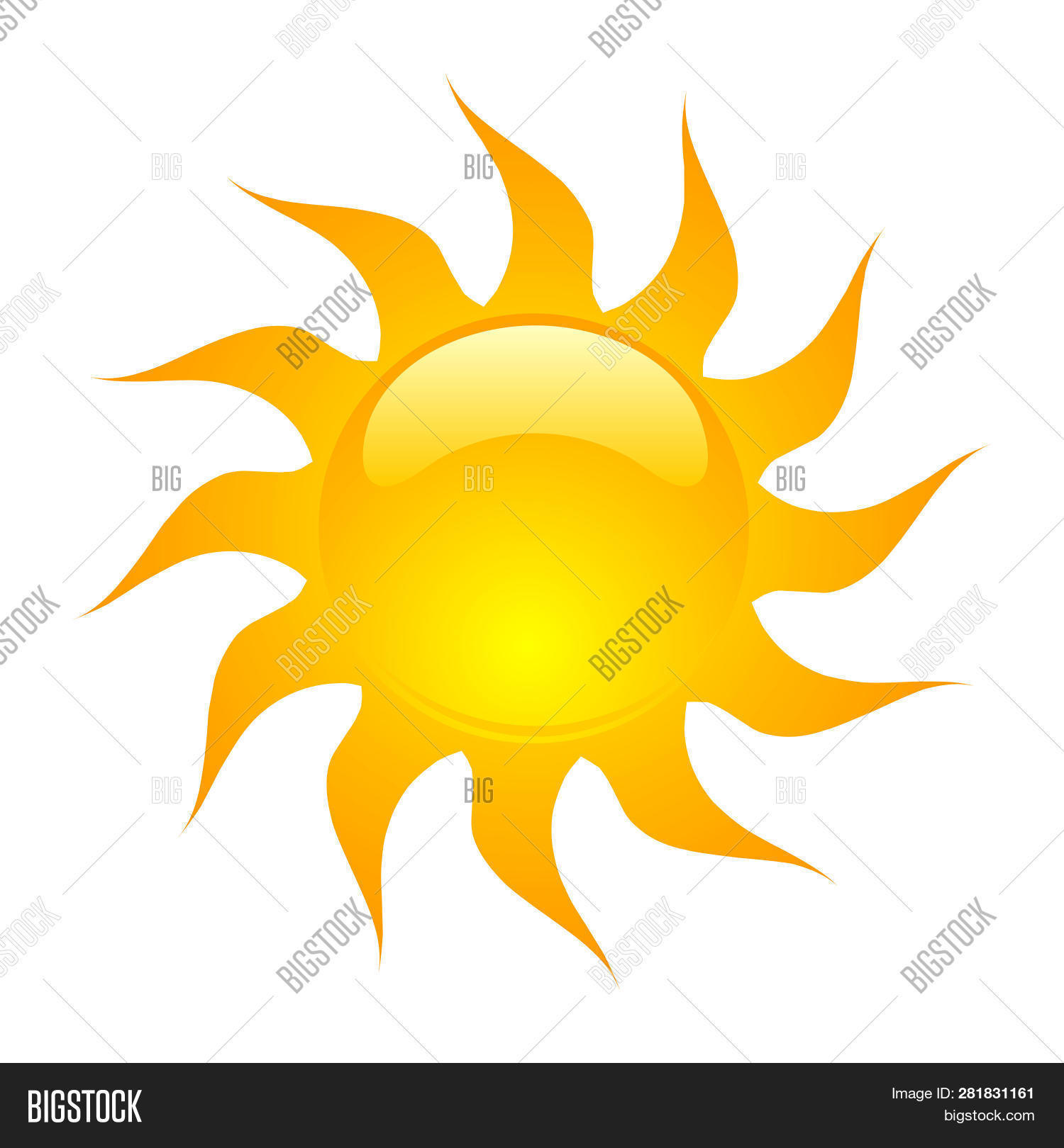 sun vector isolated image