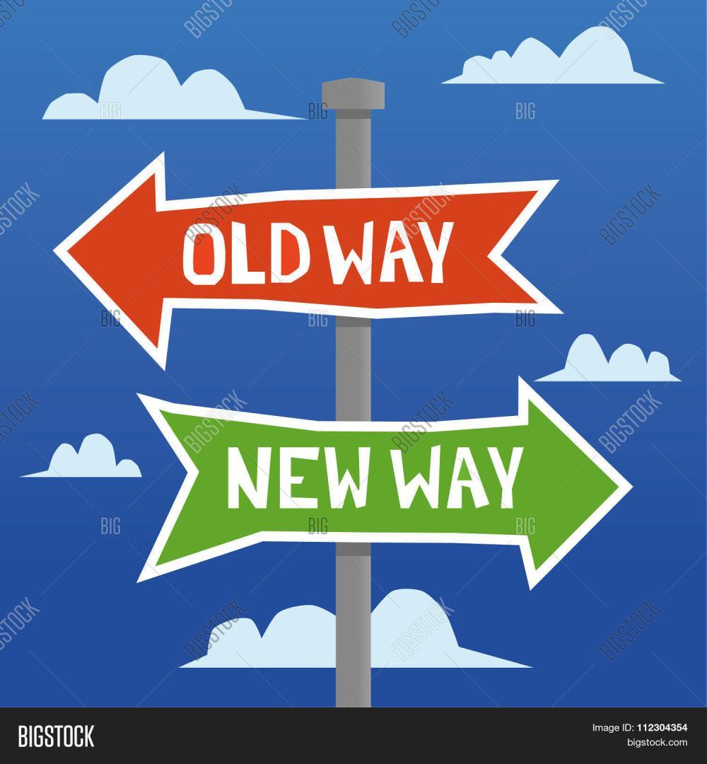 medium resolution of old way new way