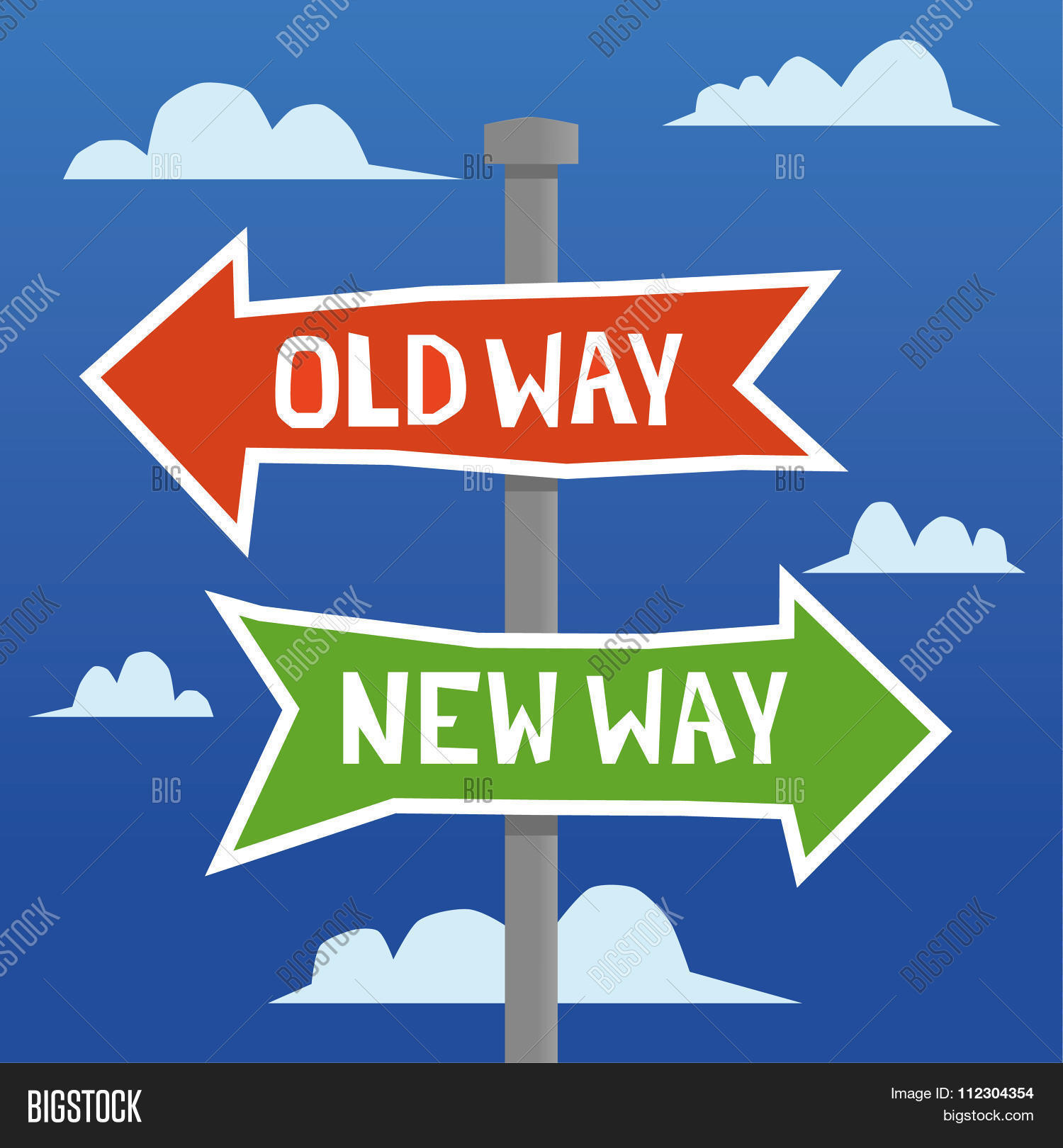 hight resolution of old way new way