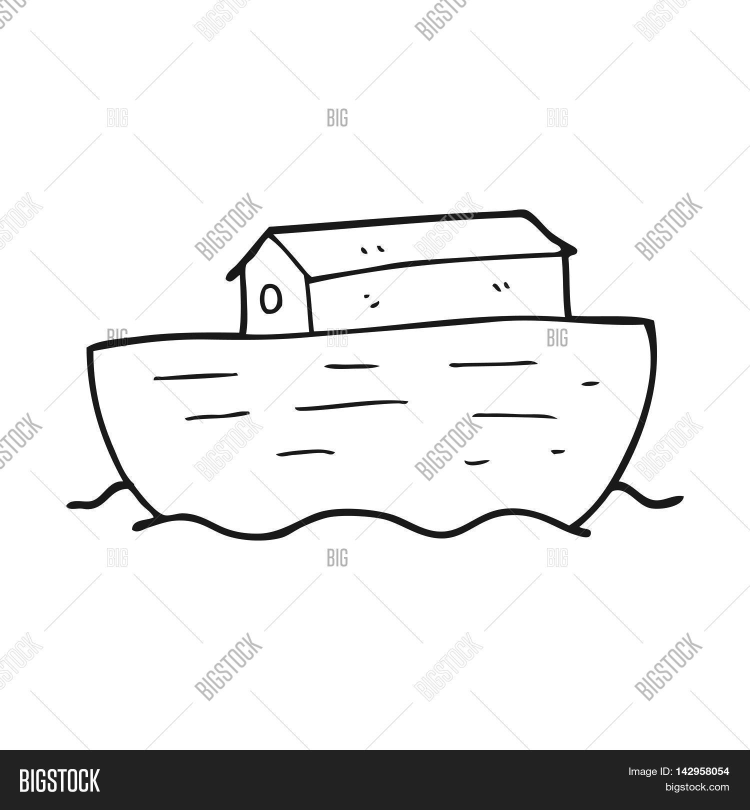hight resolution of freehand drawn black and white cartoon noah s ark
