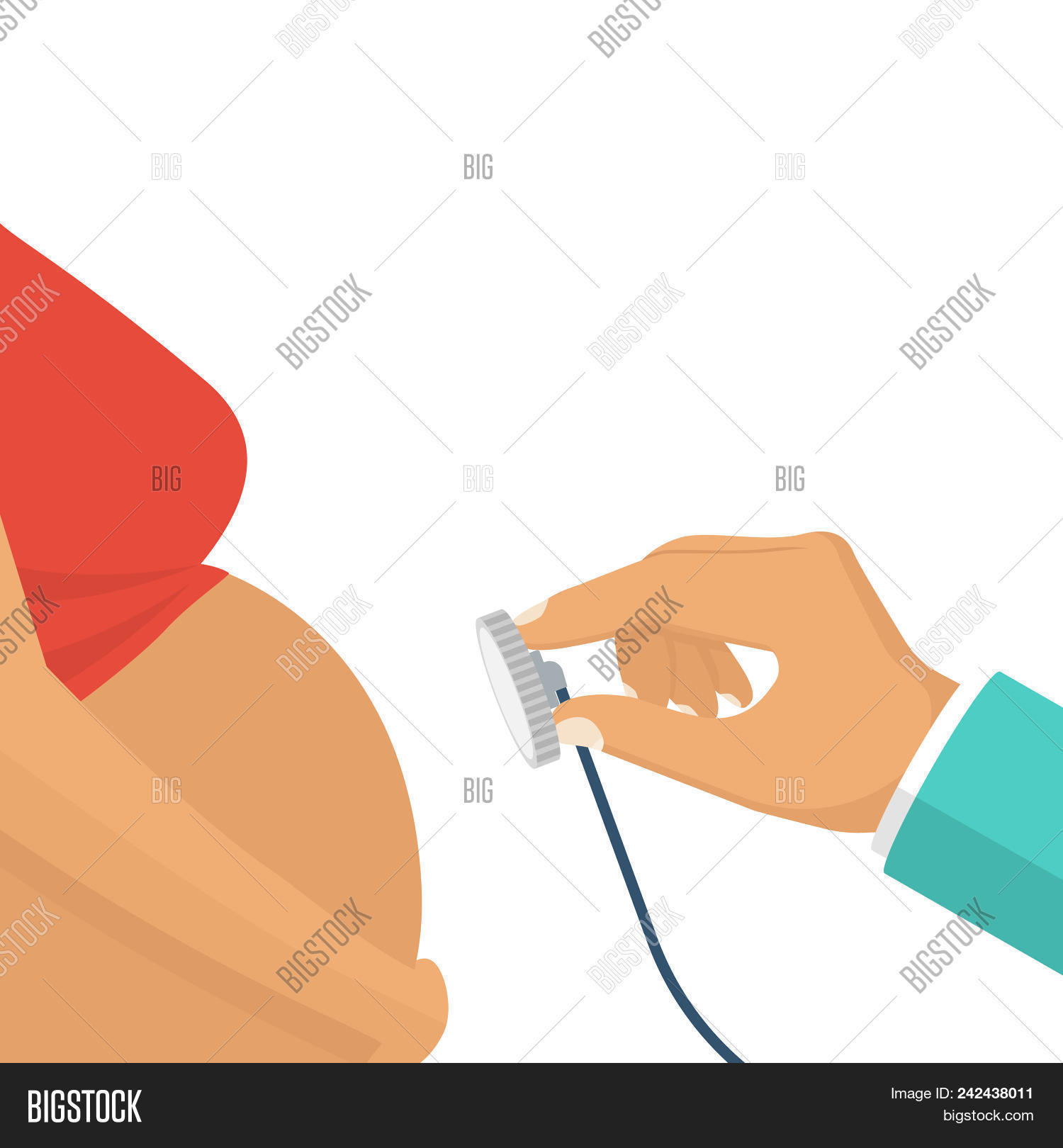 hight resolution of doctor examining a pregnant woman consultation of pregnant young woman with doctor stethoscope hol