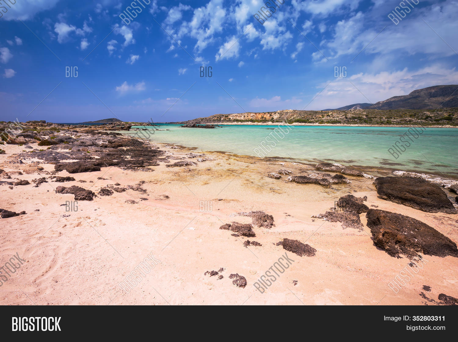 Elafonissi Beach Pink Image Photo Free Trial Bigstock